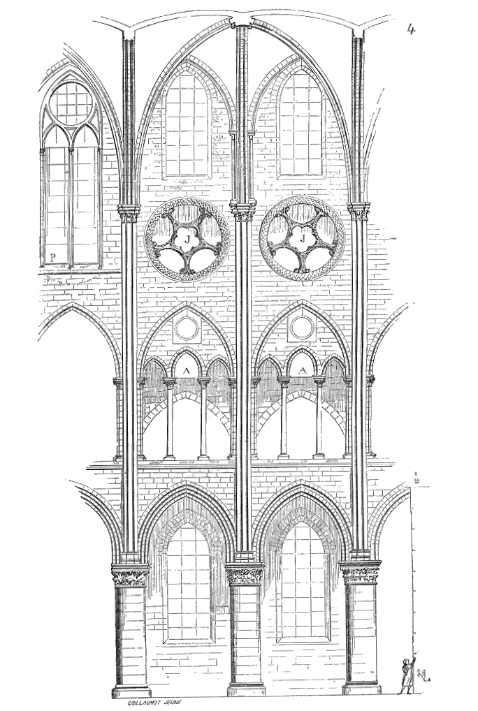 Vue Interieure Travee Cathedrale Paris Rib Vault Wikipedia Gothic Architecture Cathedral Architecture Gothic Architecture Drawing