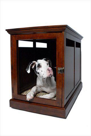 Denhaus Mahogany Townhaus Hideaway Dog House X Large Wood Dog