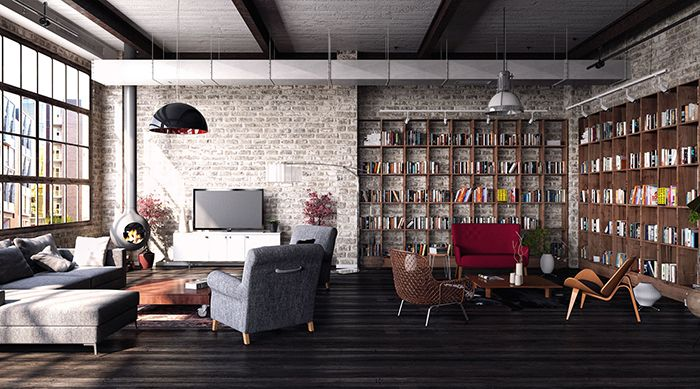 loft rotterdam industrial rock pendant lighting. Living Room, Grey Beige Sectional Sofa Wooden Floor Led Tv 50 Inch Pendant Lamps Brown Book Case Coffee Table And Fireplace ~ Wonderful Loft Rotterdam Industrial Rock Lighting