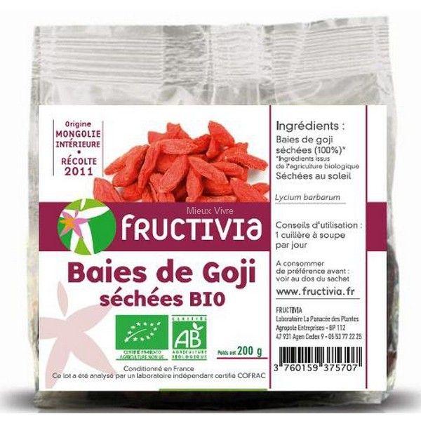 Baies de #goji bio séchées Fructivia 200g