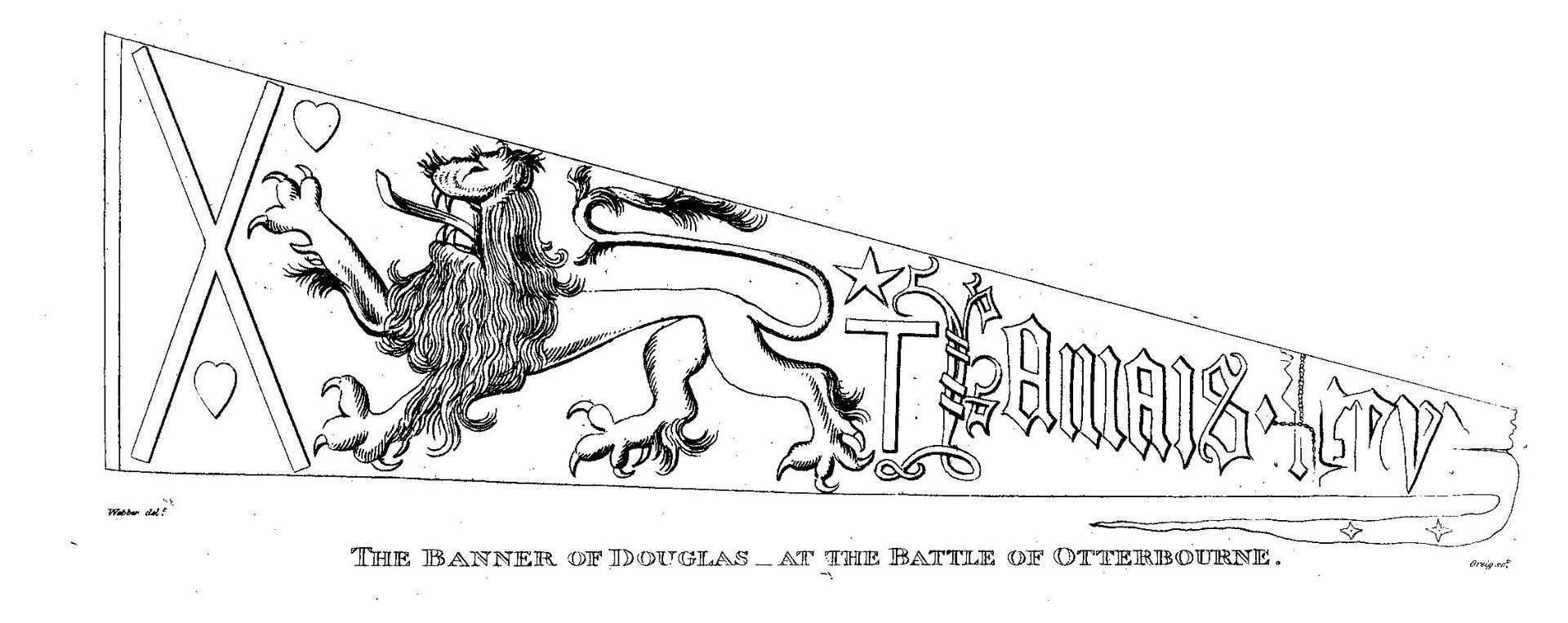 Pennon Of James Douglas  Earl Of Douglas
