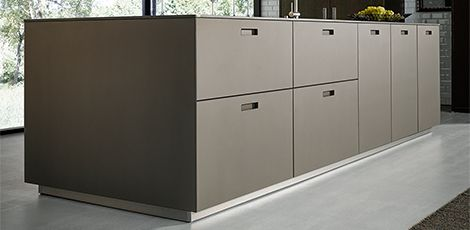 next125 nx 902 glas matt platin metallic k chen. Black Bedroom Furniture Sets. Home Design Ideas
