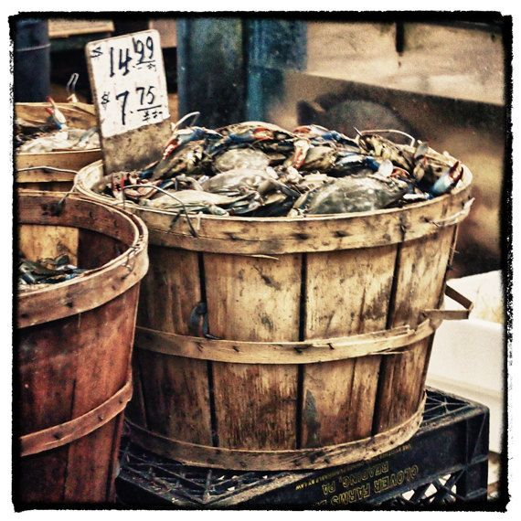 Crabs For Sell China Town Flushing New York by TaoSorrento on Etsy, $8.00