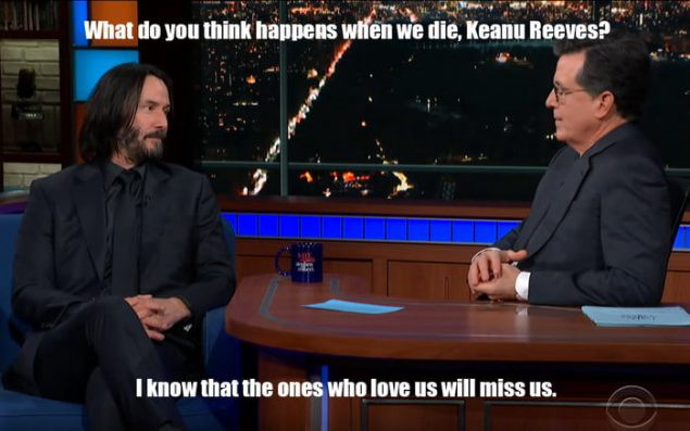 On Facing Our Own Mortality Instagram Popularity Keanu Reeves