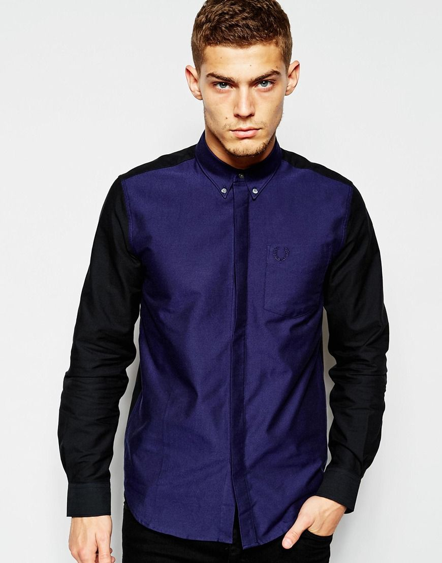 Image 1 of Fred Perry Laurel Wreath Shirt with Colour Block