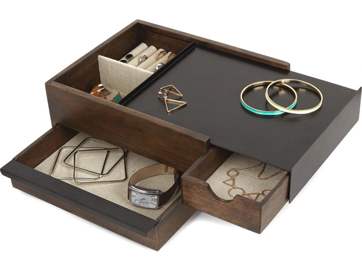 Pojemnik Na Bizuterie Stowit Czarny Large Jewelry Box Wooden