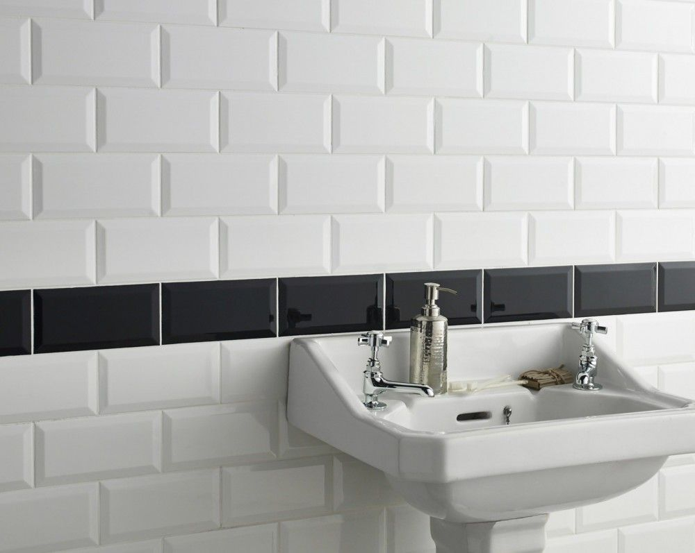 Metro White Wall Tile | Pinterest | White wall tiles, Wall tiles and ...
