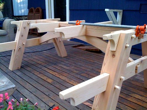 Timber frame picnic table | Shop | Pinterest | Picnic tables ...