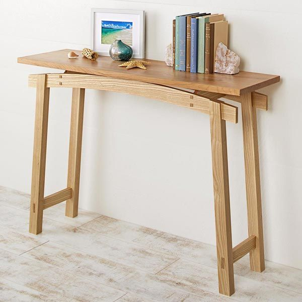 Timeless Style Hall Table Plan From Wood Magazine In 2020 Hall