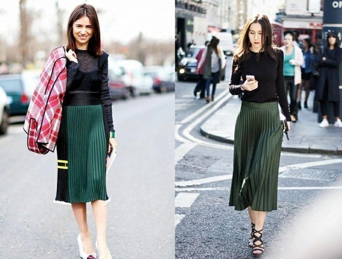 Comment porter la jupe longue plissée? 80 idées! | Types de