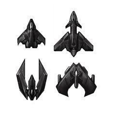 Top-down spaceships 2D sprites | Space ships sprite ...