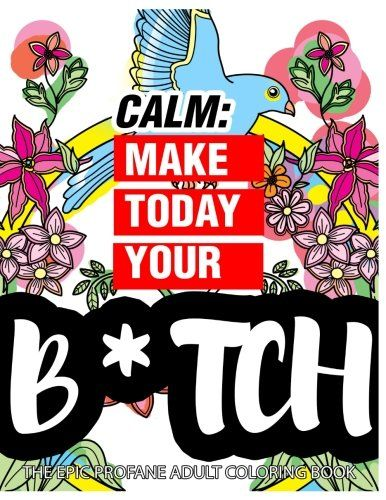 Calm Make Today Your Bitch The Epic Profane Adult Coloring Book Swear Word Finds Sweary Fun