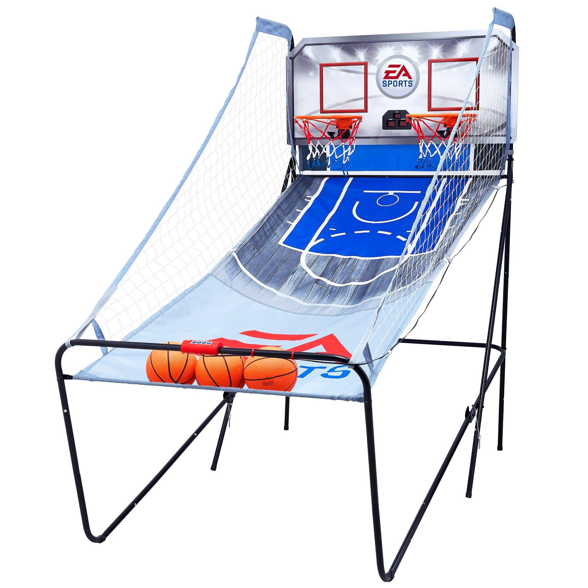 Basketball Arcade Game Indoor ESPN 2 Players Kids Hoop Electronic Sport Foldable