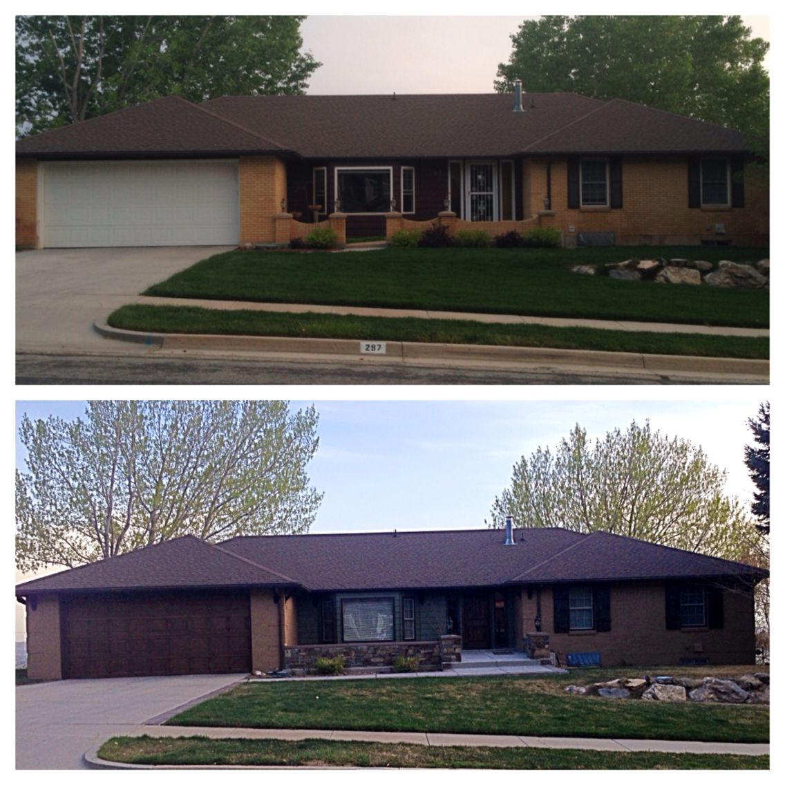 70s Home Exterior Remodel: My 70s Ranch Remodel.