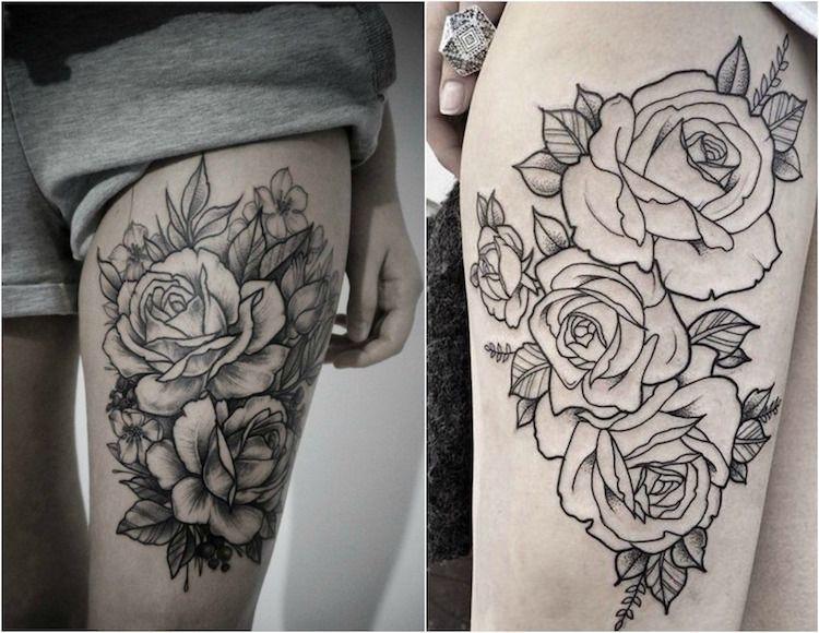tatouage rose femme – symboliques, styles et tendances pour les