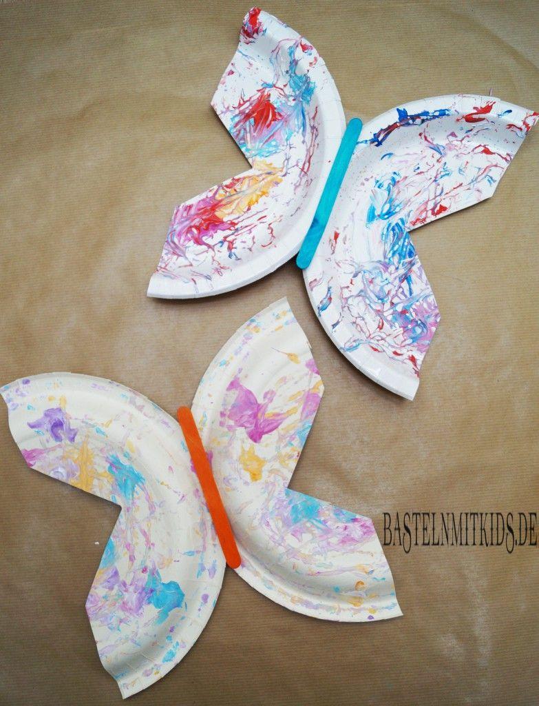 Farbenfrohen Schmetterling basteln - Basteln mit Kindern ...
