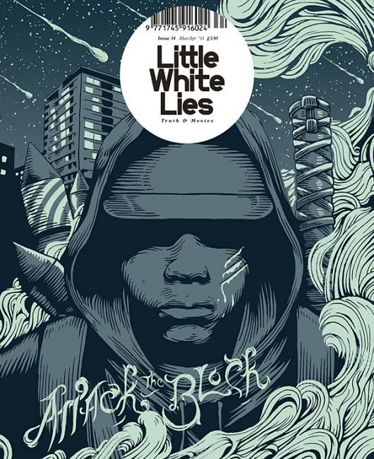 "Little White Lies: ""Attack The Block"" Issue (2011) Design Director Paul Willoughby  #CoverDesign #LittleWhiteLies"