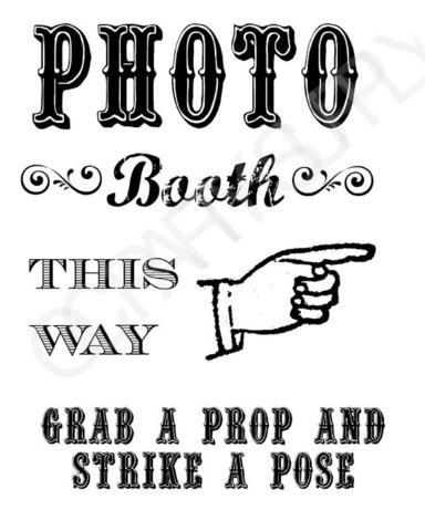 photograph about Selfie Station Sign Free Printable referred to as Seize A PROP Hit A POSE! No cost PRINTABLE Picture BOOTH