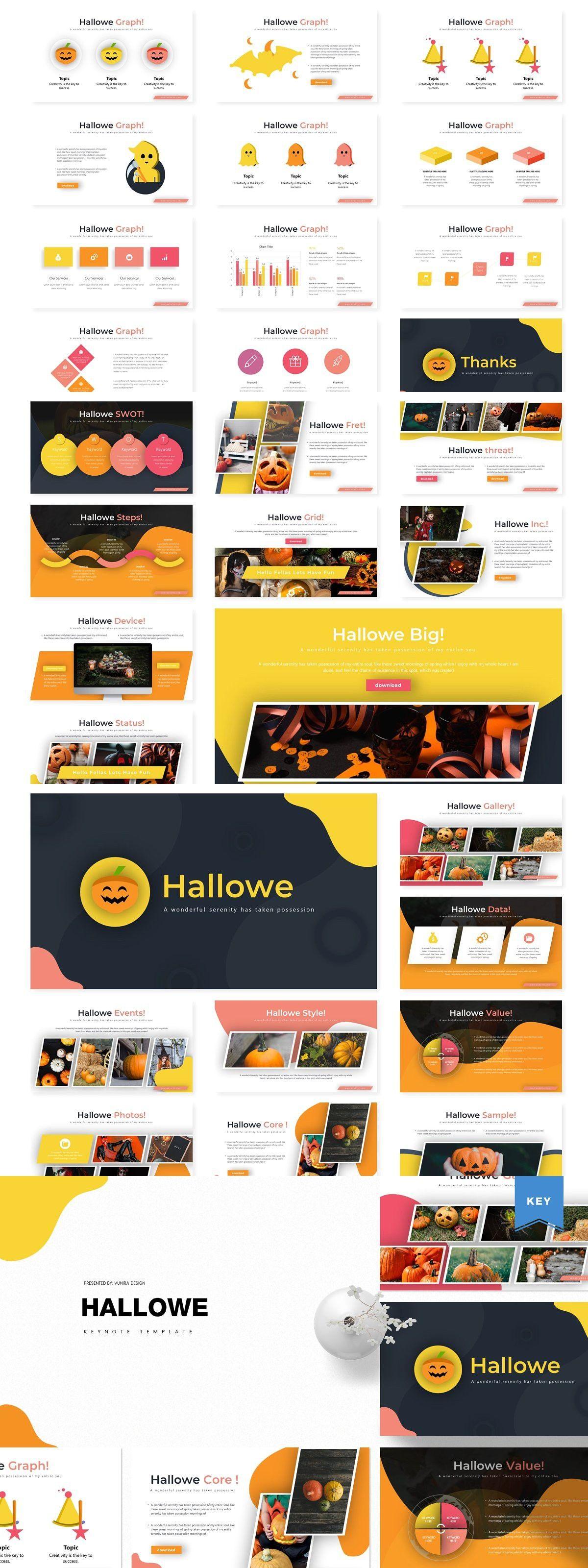 Hallowe KeynoteTemplate Google slides template