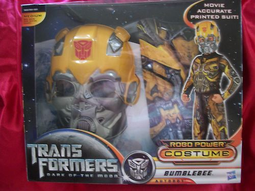 TRANSFORMERS DARK OF THE MOON ROBO POWER BUMBLEBEE AUTOBOT COSTUME MEDIUM $16.99