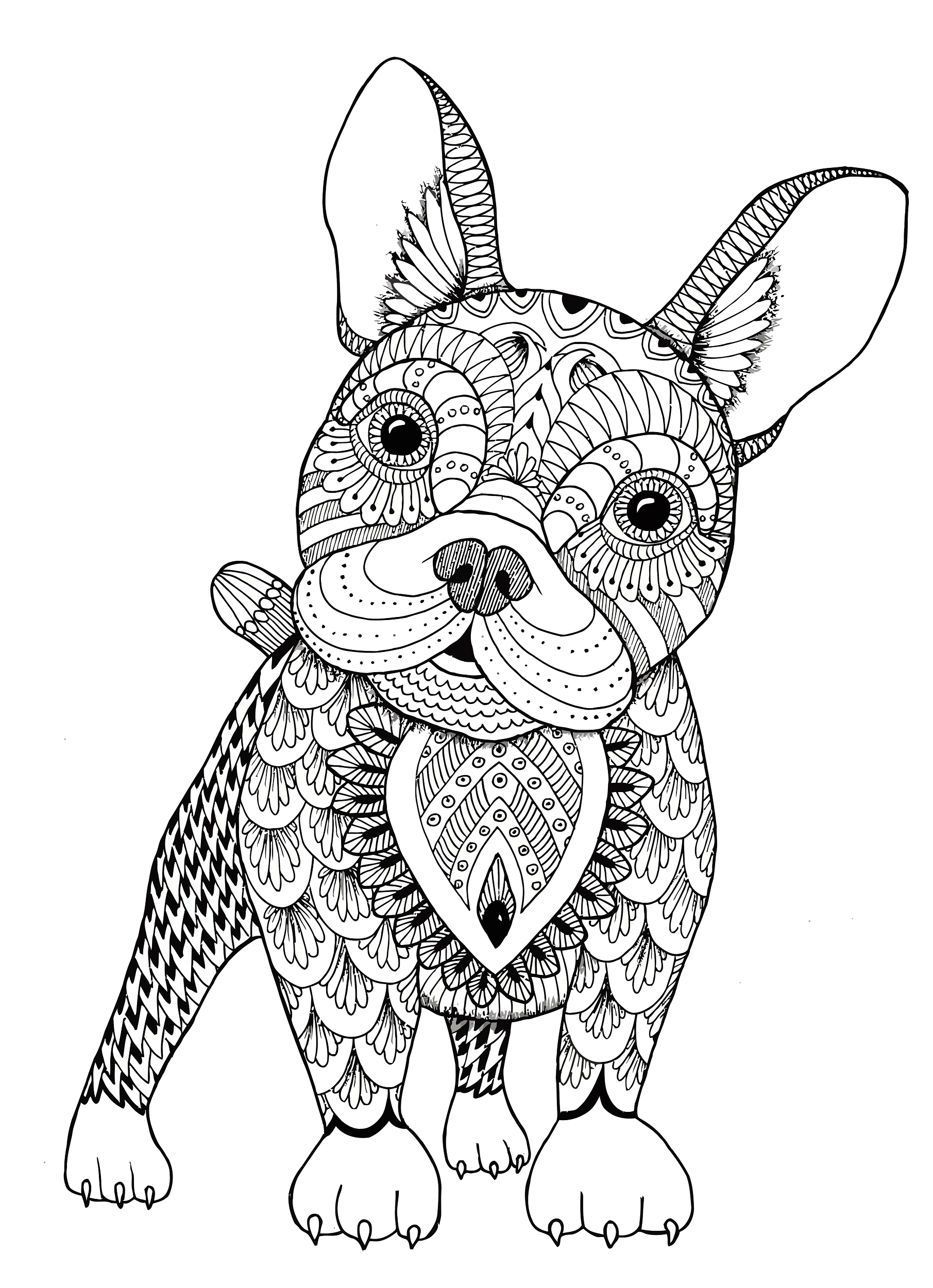 Relicaaa I Will Send You 160 Printable Coloring Pages Of Floral Mandalas And Animals For 15 On Fiverr Com Dog Coloring Book Dog Coloring Page Owl Coloring Pages [ 2501 x 1811 Pixel ]
