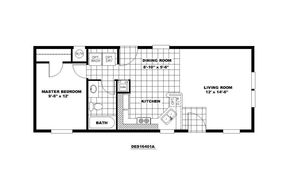 16ft By 40ft Floor Plan Cabin Floor Plans Tiny House Floor Plans Mobile Home Floor Plans