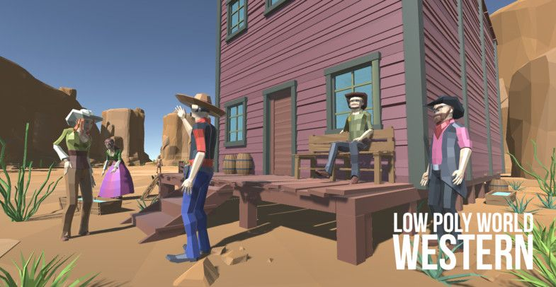 LOW POLY WORLD - WESTERN - Asset Store | game ideas in 2019 | Low