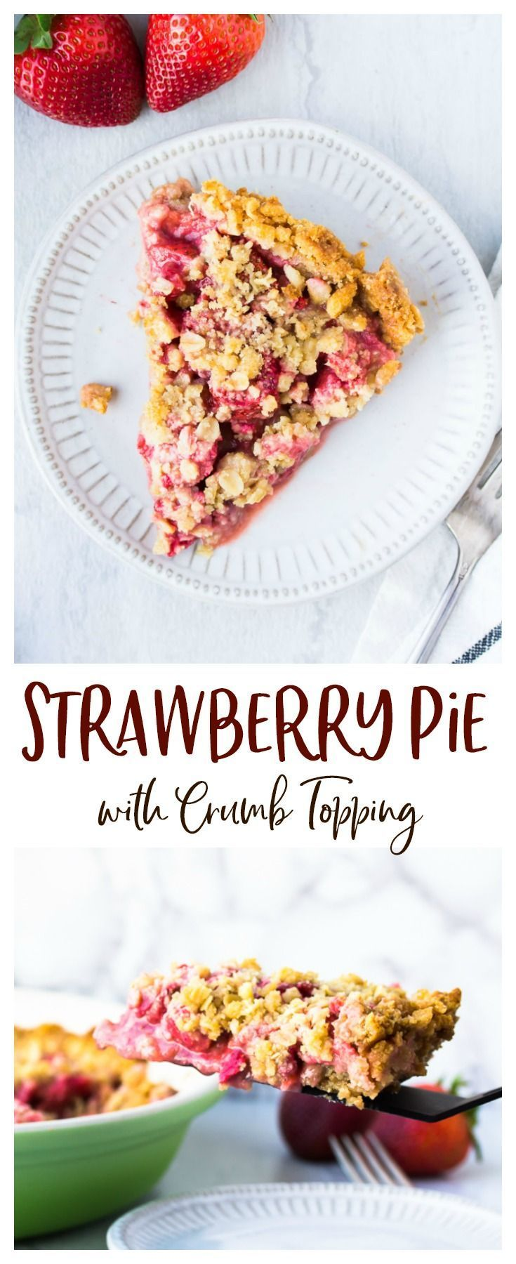Strawberry Pie - an easy dessert recipe made with fresh, juicy strawberries and served on a NILLA Wafer crust. It's topped with a buttery crumble. The perfect way to use summer's fresh strawberries in a delicious treat everyone will love! Pie - an easy dessert recipe made with fresh, juicy strawberries and served on a NILLA Wafer crust. It's topped with a buttery crumble. The perfect way to use summer's fresh strawberries in a delicious treat everyone will love! |