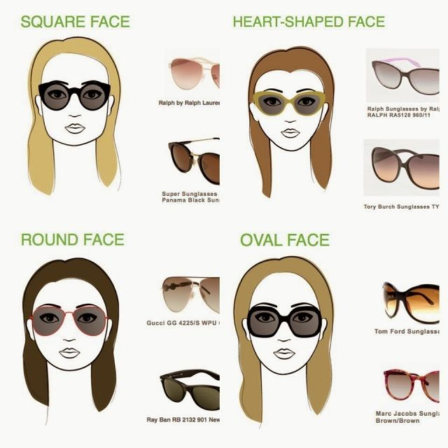 suited sunglasses for your face shape accessories rh pinterest com