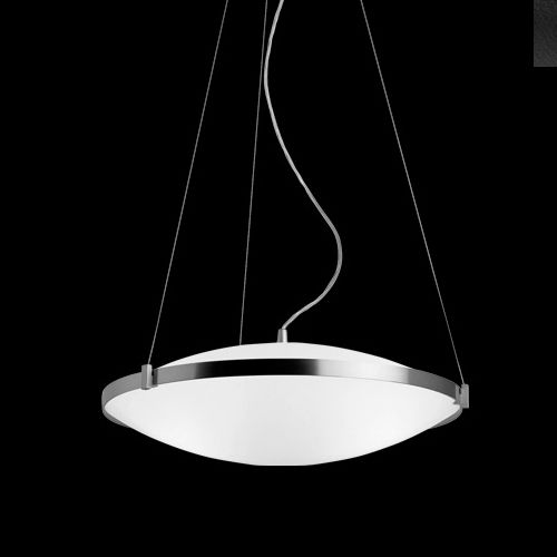 Great The Round Pendant Light Is A Pendant Featuring Two Gently Curved  Satin Glass Disks With A Metal Edge And Supports. Height Adjustable And  Suitable For ...