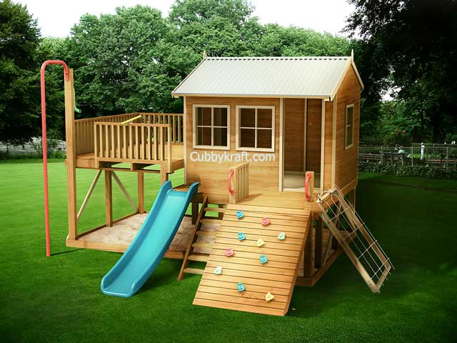 Explorer Pack Kids Playground Equipment By Cubbykraft Kids Playground Simple Tree House Backyard Play