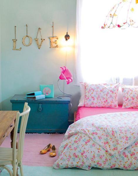 Habitaci n de chica vintage cuartos muebles etc for Habitaciones juveniles chica