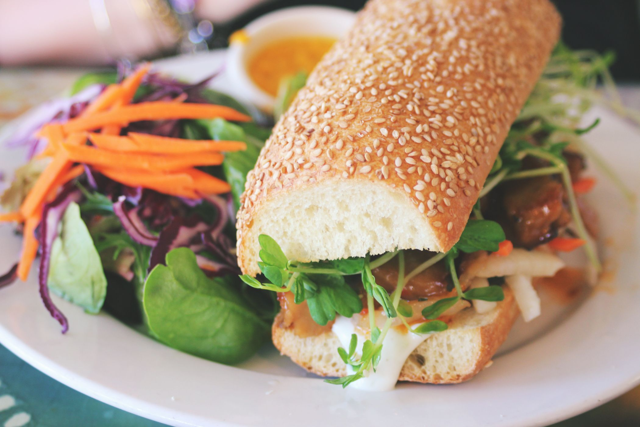 Review Of This Yummy Vegan Bahn Mi From Good Karma Red Bank Nj