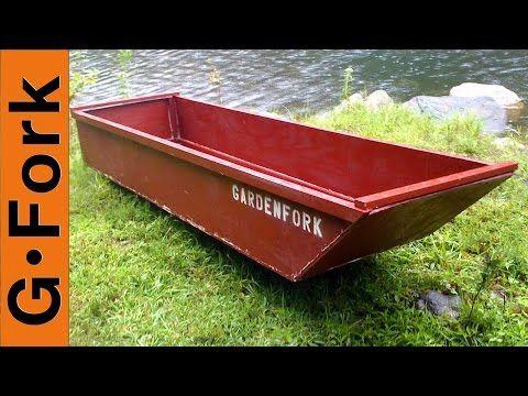 One Sheet Plywood Boat Gardenfork Youtube Plywood Boat Plywood Boat Plans Boat Building
