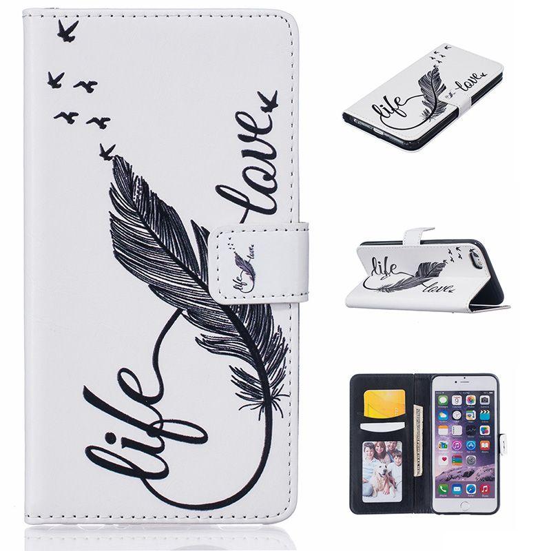 Karribeca design PU wallet leather case For iphone 6 S 6S Plus cases cover capinha funda coque hoesje etui carcasas custodia