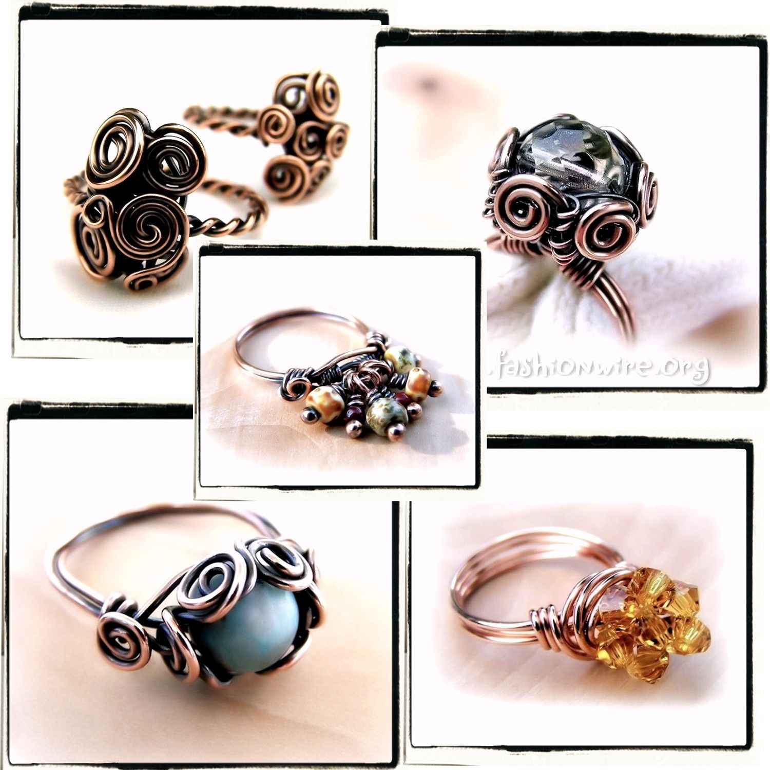 Ring Lovers Wire Wrap Jewelry Lessons 5 TUTORIAL by FashionWire ...