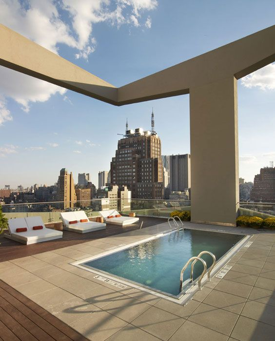 Soho boutique hotel new york images the james new york nyc places to go pinterest soho for Hotel new york swimming pool roof