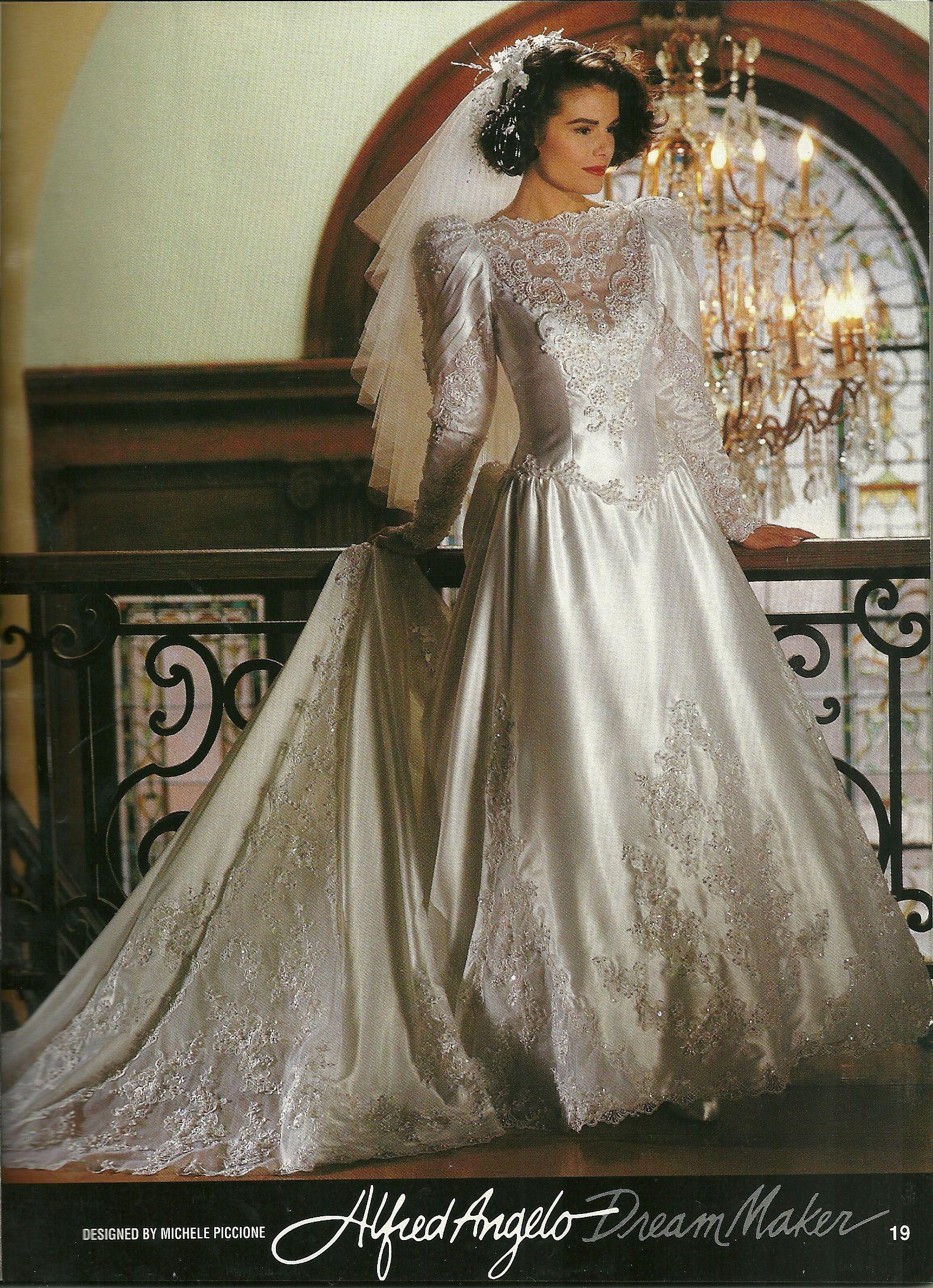 Alfred Angelo Dream Maker Spring of 1992 | 1990's wedding ...