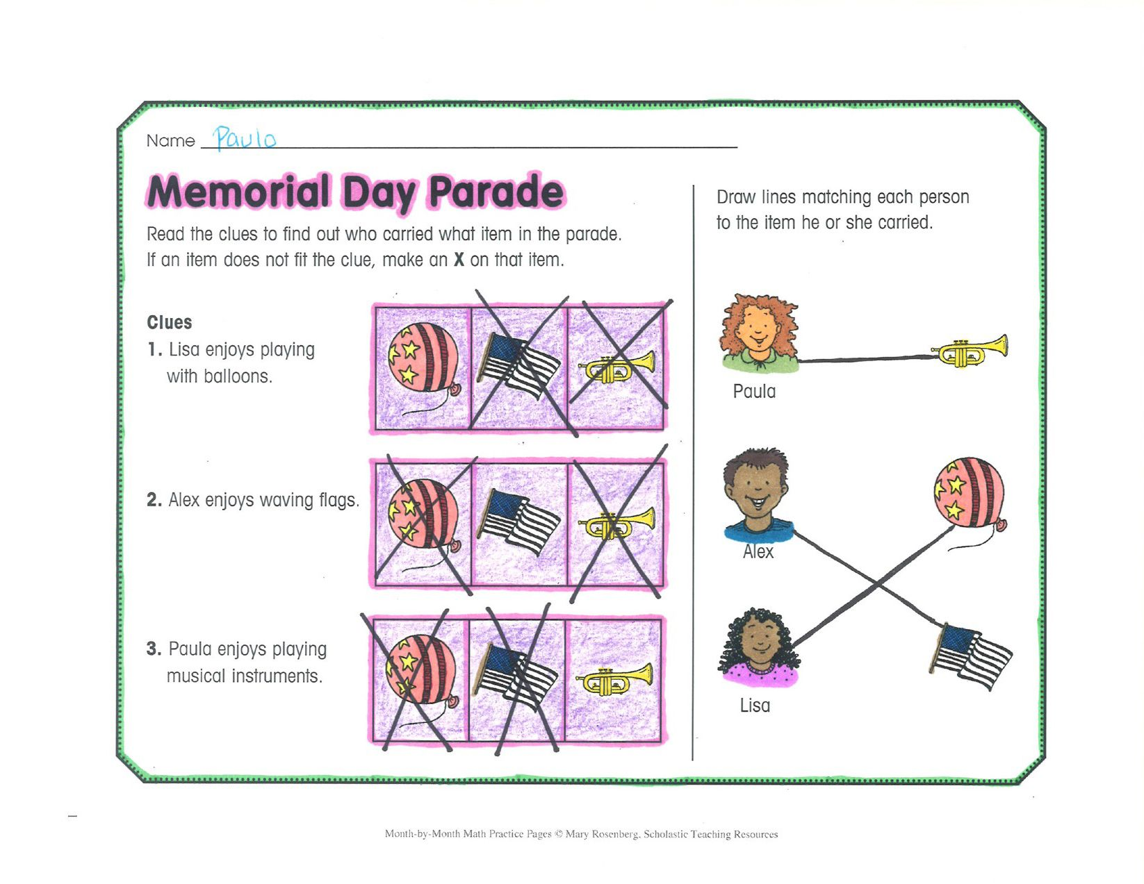 Bring Memorial Day Into Math With Beginning Wordproblems