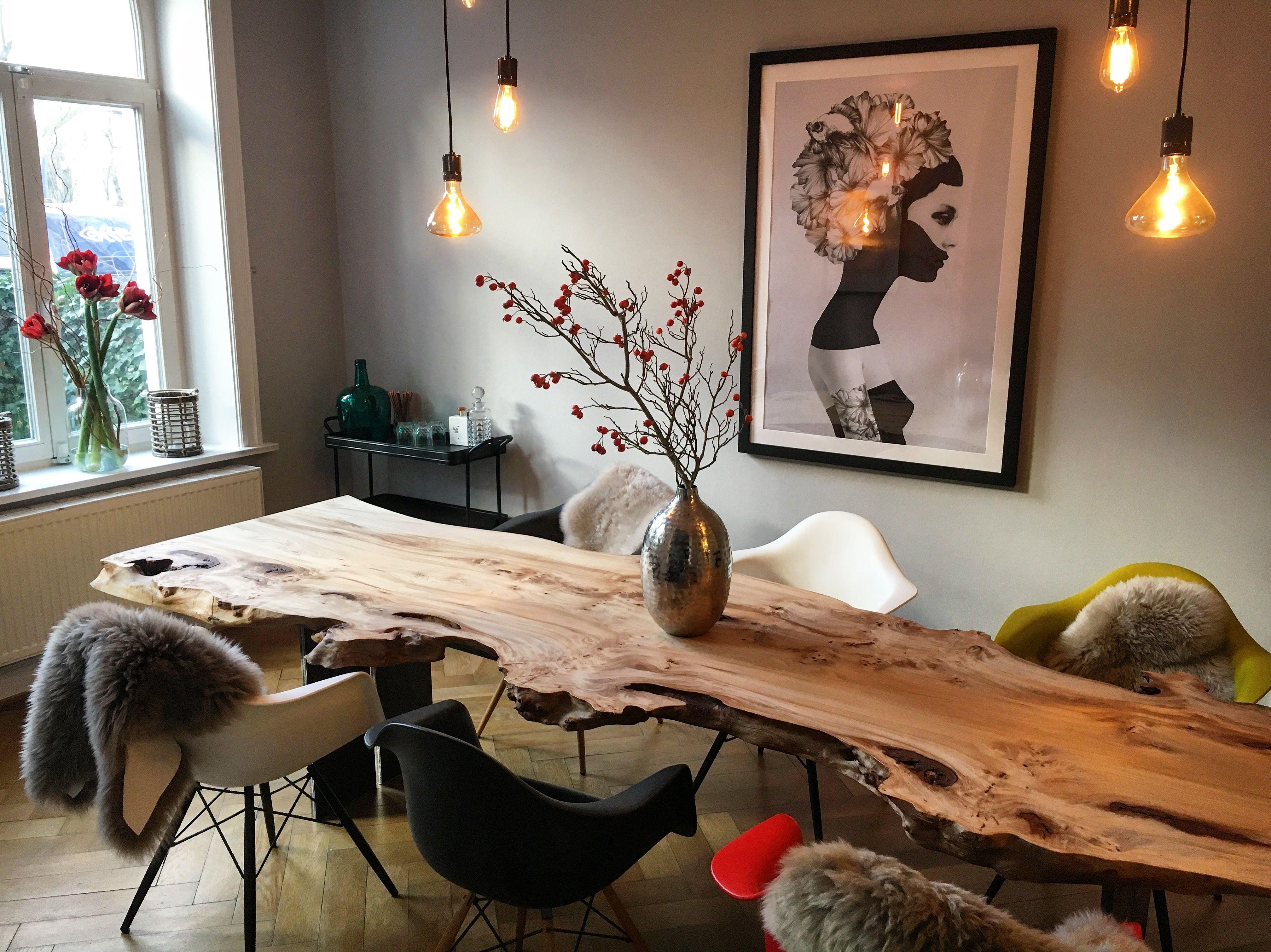 Esstisch Massivholztisch Baumtisch Holzwerk Hamburg