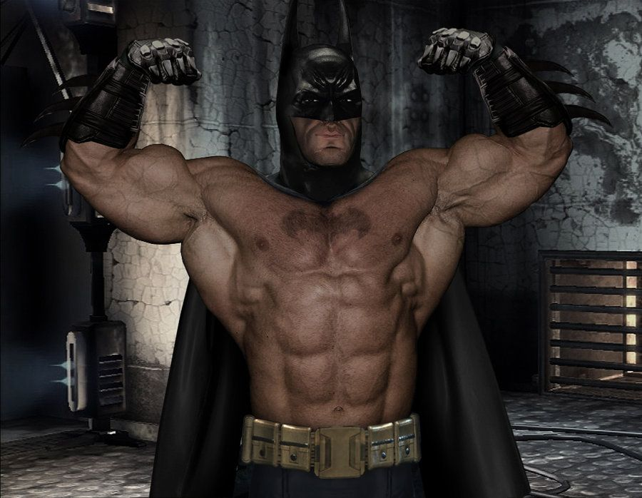 Batman's Double Bicep by graphic-muscle on DeviantArt