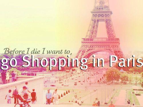 I love to shop & I love Paris<3