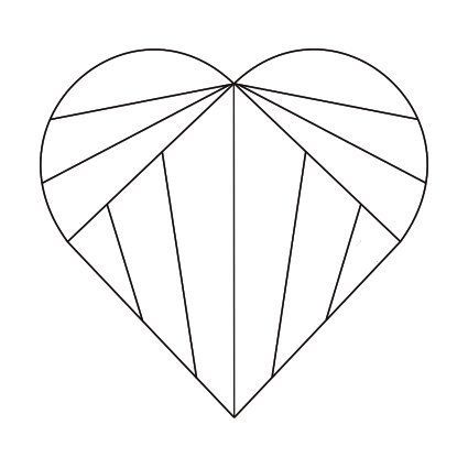 3 color heart inkspired musings: Valentine Iris Folding