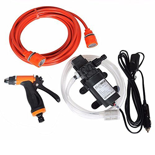 Najer Small Portable Dc 12v 60w Intelligent High Pressure Selfpriming Mini Water Pump Kit For Car Wash Boat Garden Car Washer Car Wash Car Cleaning Services