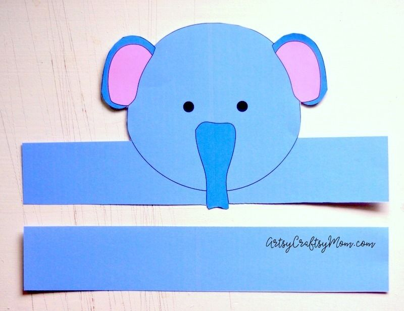 Elephant Paper Crown Template  Crown Template Paper Crowns And