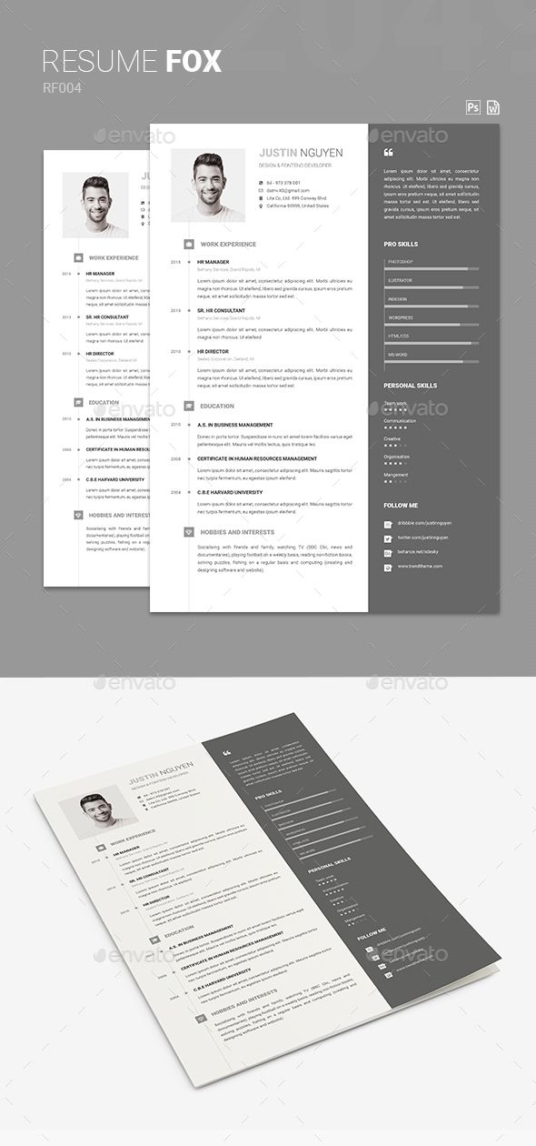 Resume | Template, Cv template and Font logo