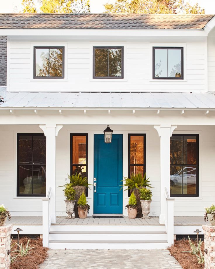 A rich shade of teal blue livens up any exterior.