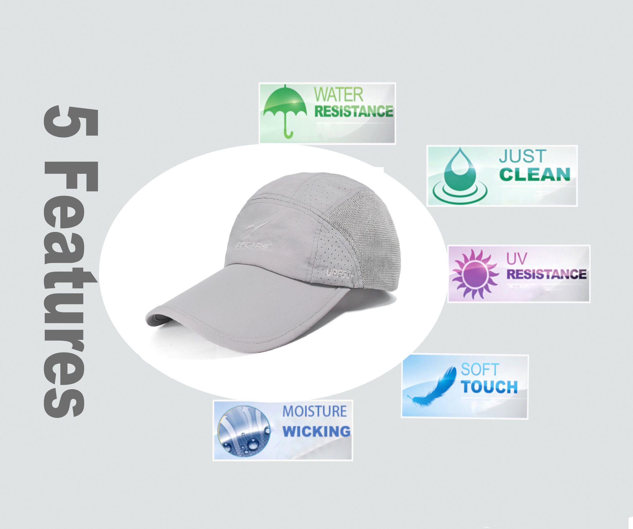 Ellewin Summer Baseball Cap Quick Dry Cooling Sun Hats Flexfit