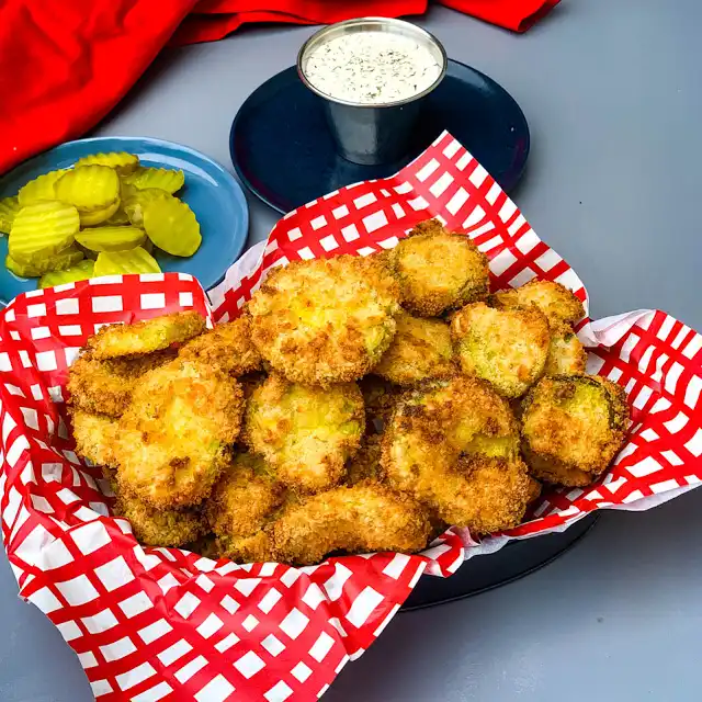 Air Fryer Crunchy Fried Pickles Recipe Yummly Recipe