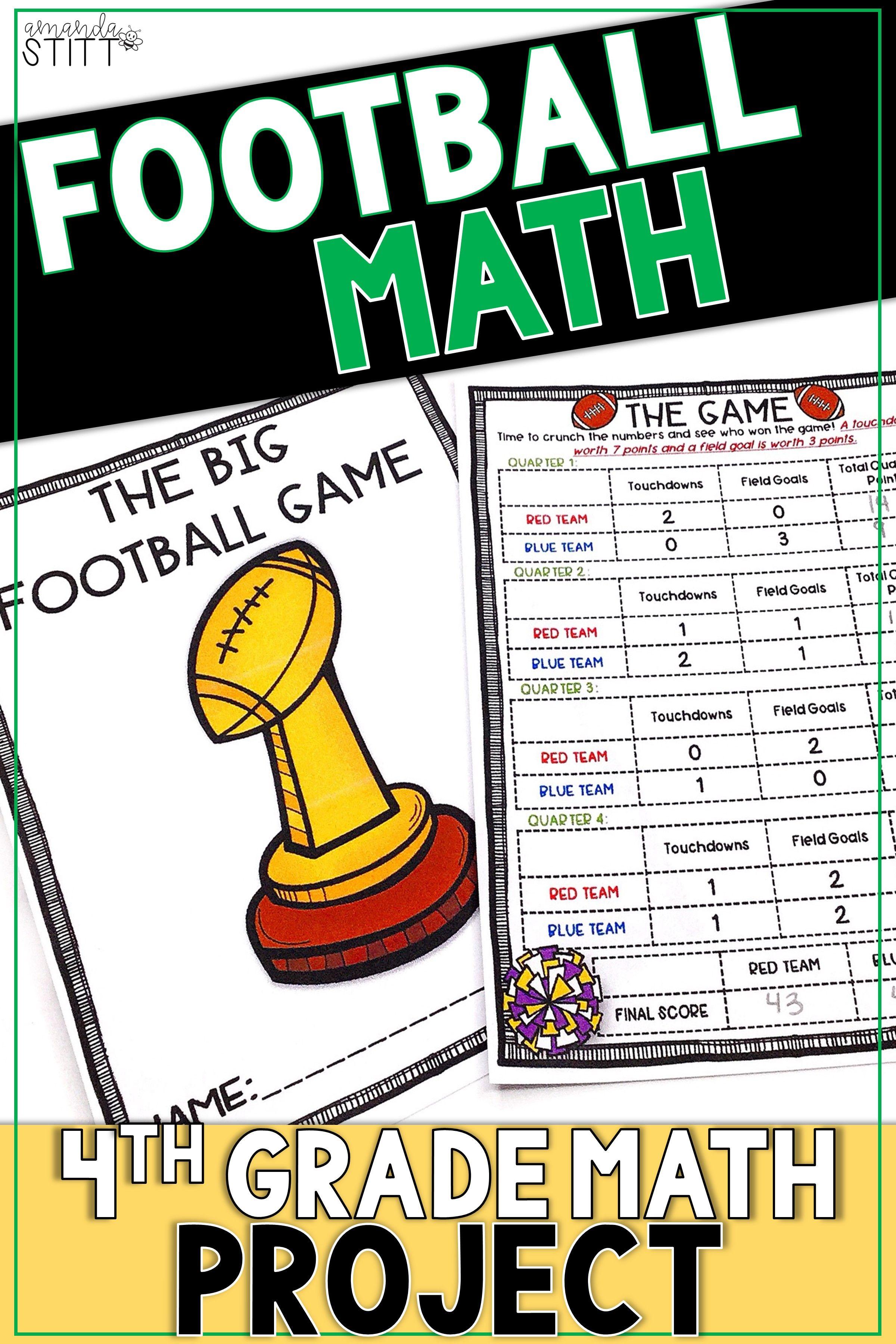Super Bowl Math Activity
